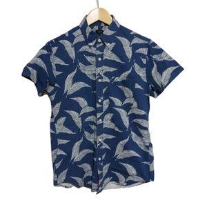 J CREW Cotton Till Short Sleeve Leaf Print…
